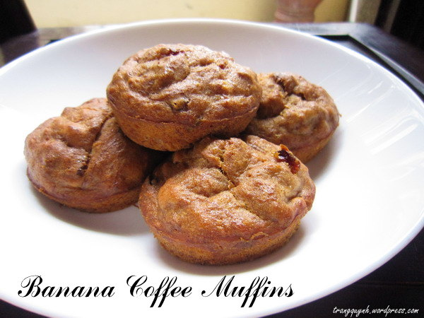 Banana coffee muffins 2