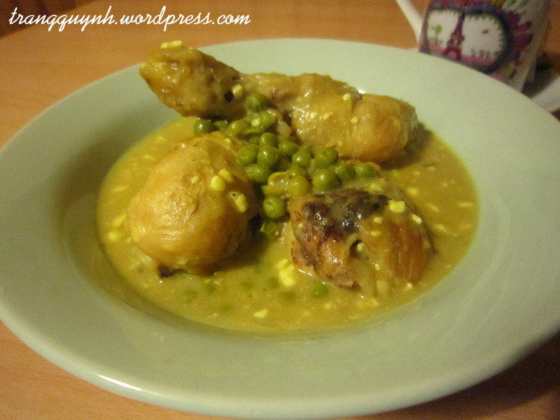 Curried chicken legs with peas 2