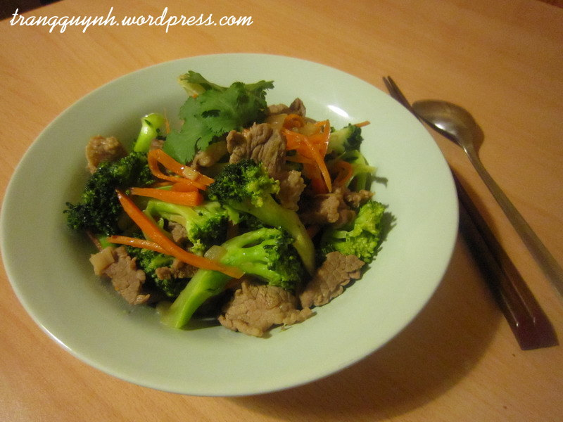 Beef and broccoli stir-fry 1