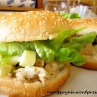Hamburger với Salad Gà cà ri